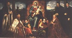Doge Alvise Mocenigo and Family with Senator Loredama before the Madonna and Child c.1573