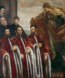 St. Giustina and the Treasurers of Venice, 1580 16th