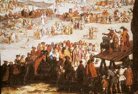 The Fair at Impruneta, detail of the right hand side 1638