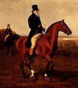 Kunstdruck von Jacques-Laurent Agasse - Bildnis des Francis Augustus Lord von Heathfield zu Pferde