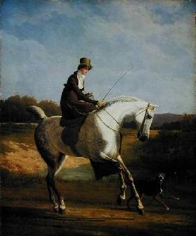 Kunstdruck von Jacques-Laurent Agasse - Miss Casenove On a Grey Hunter