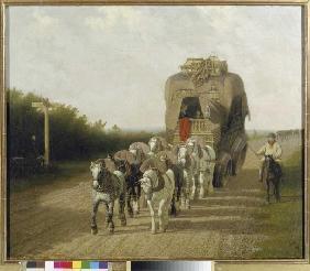 Kunstdruck von Jacques-Laurent Agasse - Die Paketpost von Ludlow.