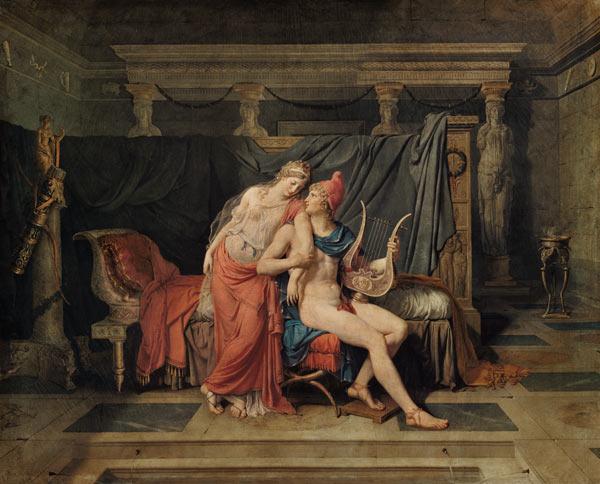 Jacques-Louis David  - Page 3 Die-Liebe-von-Paris-und-Helena