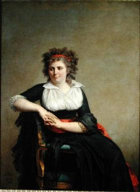 The Marquise d'Orvilliers (1772-1862) (nee Jeanne-Robertine Rilliet) Seated 1790