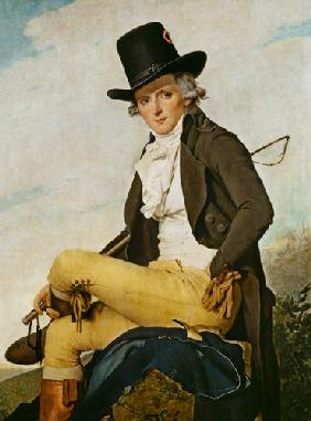 Portrait of Pierre Seriziat (1757-1847) the artist's brother-in-law 1795