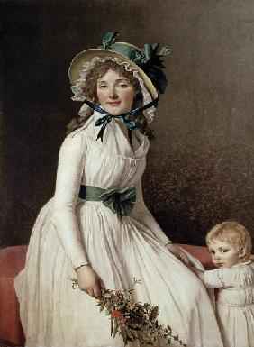 Madame Pierre Seriziat (nee Emilie Pecoul) with her Son 1795