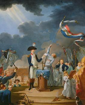 The Oath of Lafayette at the Festival of the Federation, 14th July 1790 1791