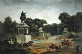 The Entrance to the Tuileries from the Place Louis XV in Paris c.1775