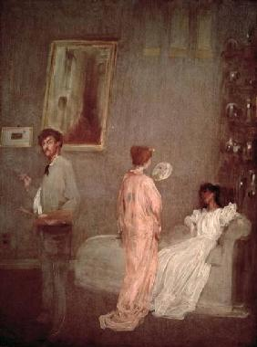 Whistler in his studio 1865-66
