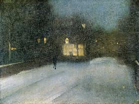 Nocturne in Grey and Gold: Chelsea Snow 1876