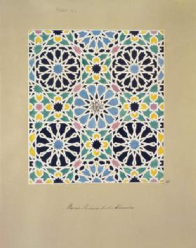 Mosaic Pavement in the Alhambra, from 'The Arabian Antiquities of Spain', published 1815 (w/c on pap 18th