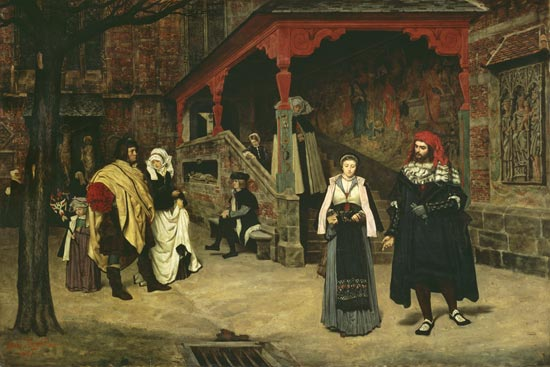 The meeting of faust and marguerite james jacques tissot - Faust wandfarbe ...