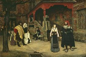The Meeting of Faust and Marguerite 1860