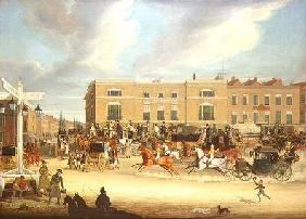 The Elephant and Castle on the Brighton Road 1826