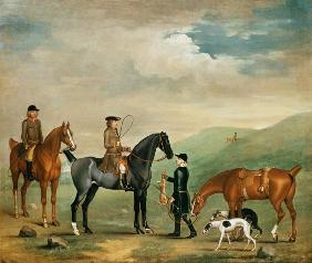 The 4th Lord Craven coursing at Ashdown Park 18th c.