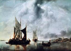 Calm or, Boats near the Coast after 1651