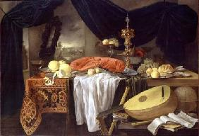 Still Life with a Lobster, Lemons and a Lute 1645