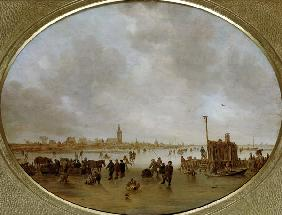Winter am Fluss. 1643