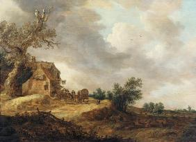Landscape with Figures Outside an Inn 1643
