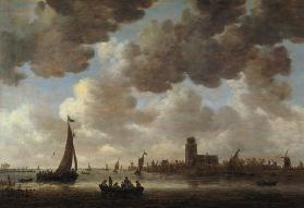 View of Dordrecht Downstream from the Grote Kerk 1647
