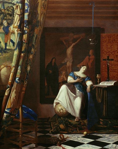 Vermeer allegory of faith jan vermeer van - La lechera de vermeer ...