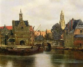 Jan Vermeer van Delft - View of Delft c.1660-61  (detail of 113452)