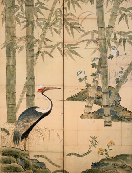 Pine and Bamboo and Cranes