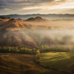 Mystical Waving Fields Tuscany