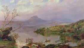 Kunstdruck von Jasper Francis Cropsey - Sugarloaf from Wickham Lake