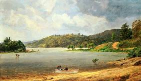 Kunstdruck von Jasper Francis Cropsey - On the Wawayanda Lake, New Jersey