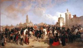 Entrance of the French Expeditionary Corps into Mexico City, 10th June 1863 1869