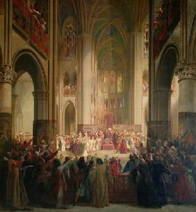 Estates General of Paris Meeting in Notre-Dame after the Death of Charles IV (1295-1328), 1st Februa 1841