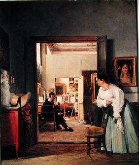 The Studio of Ingres in Rome 1818