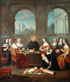 St. Vincent de Paul and the Sisters of Charity c.1729