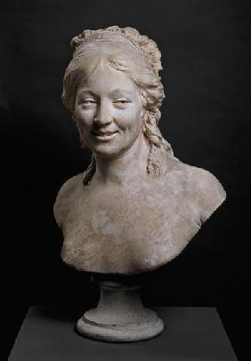 Portrait bust of Madame Houdon, the wife of the artist 1786