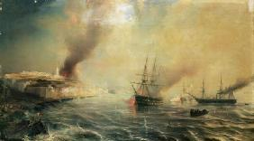 Bombardment of Sale, 26th November 1851, 1855 (oil on canvas) 18th