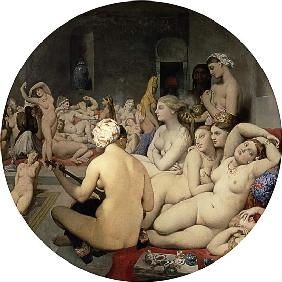 Ingres, Jean Auguste Dominique : Das t�rkische Bad (Tondo)
