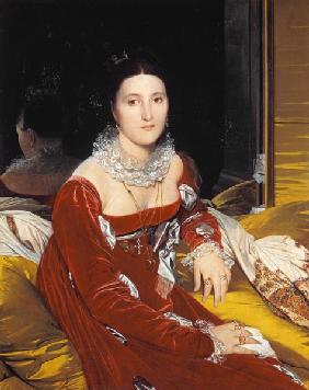 Ingres, Jean Auguste Dominique : Portrait Marie Marcoz, sp�...