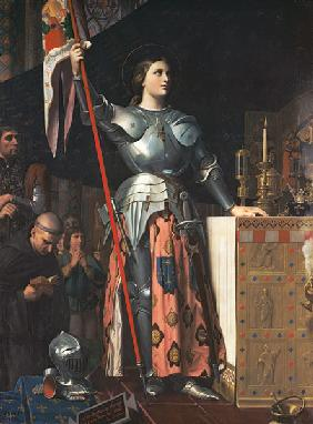 Ingres, Jean Auguste Dominique : Joan of Arc (1412-31) at t...