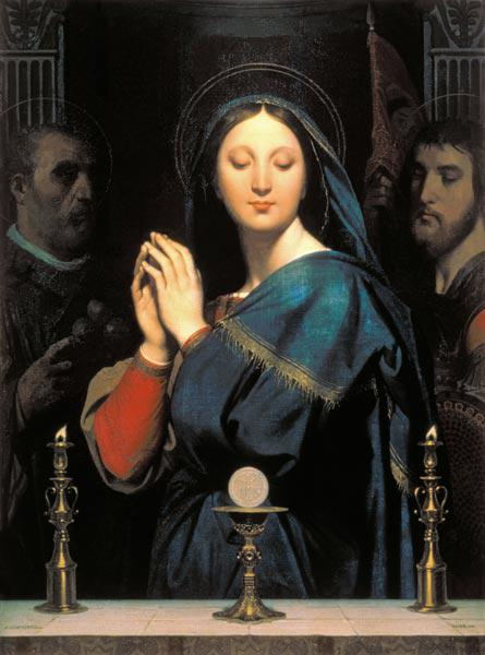 Ingres, Jean Auguste Dominique : The Virgin with the Host