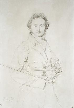 Ingres, Jean Auguste Dominique : Portrait of Niccolo Pagani...