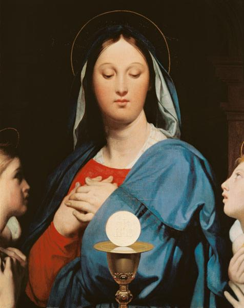 Ingres, Jean Auguste Dominique : The Virgin of the Host