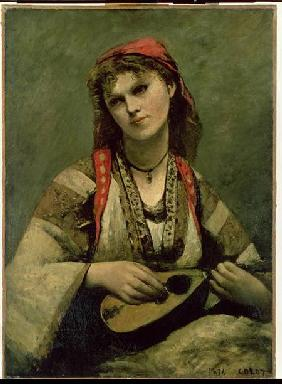 Christine Nilson (1843-1921) or The Bohemian with a Mandolin 1874