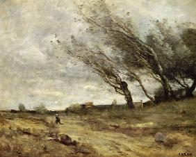 Der Windstoss (Coup de vent) 1865/1870