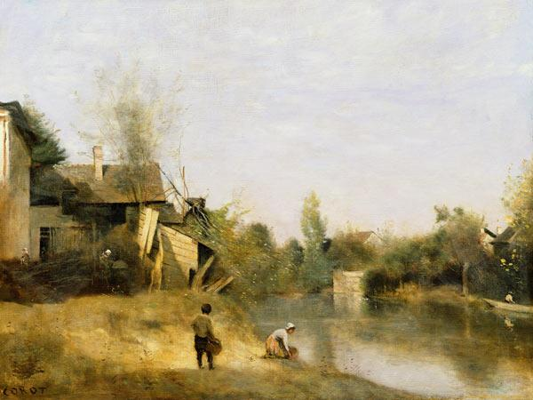 Riverbank at Mery sur Seine, Aube c.1870