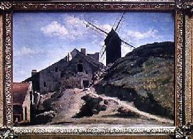 A Windmill at Montmartre 1840-45