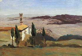 Volterra, Church and Bell Tower 1834