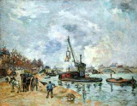 At the Quay de Bercy in Paris 1874