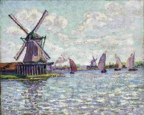 Windmühlen in Holland Um 1904