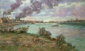 The Confluence of the Seine and the Marne at Ivry (oil on canvas) 16th